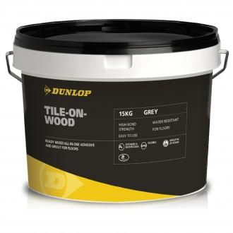 DUNLOP TILE ON WOOD ADHESIVE GREY 15KG 18628